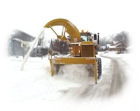 Snow Plow plowing snow