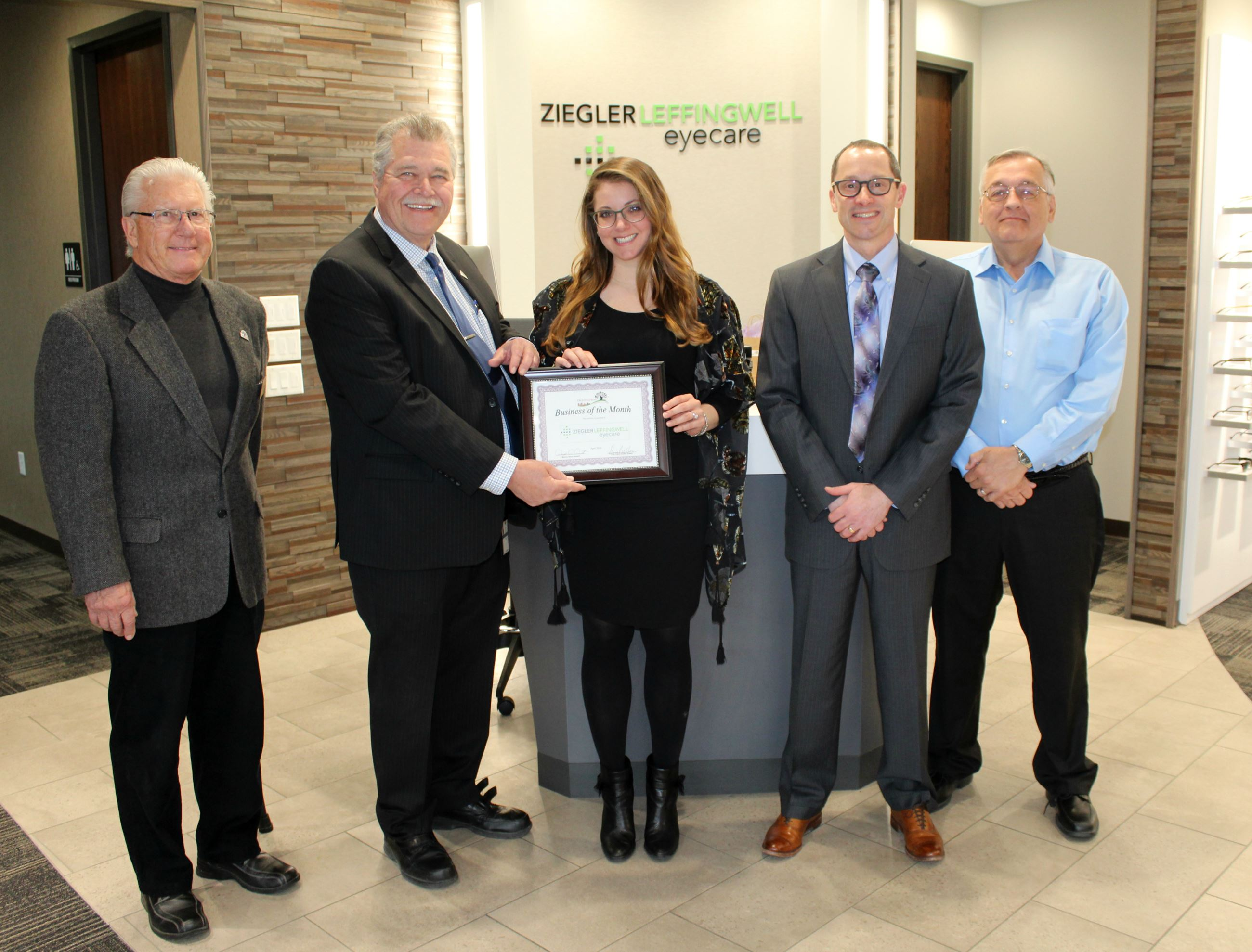 Mayor Visit Ziegler Leffingwell Eye Care