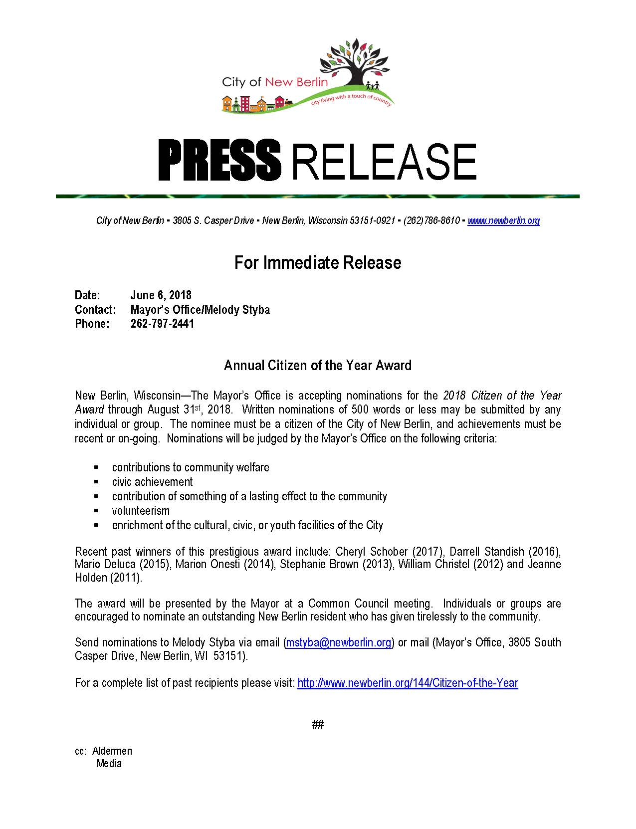 Press-Release-Seeking nominations 2018
