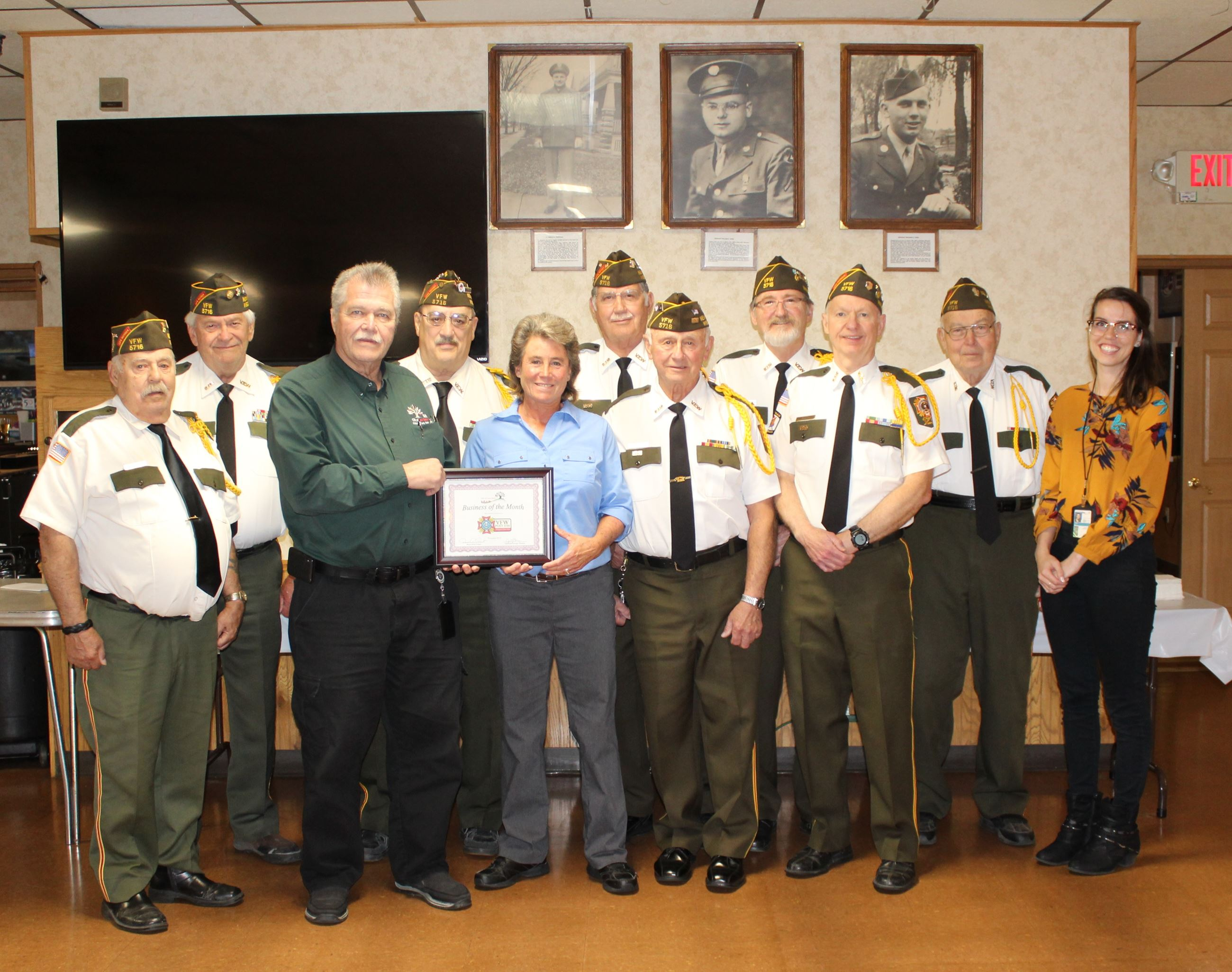 Mayor Visit VFW Business of the Month
