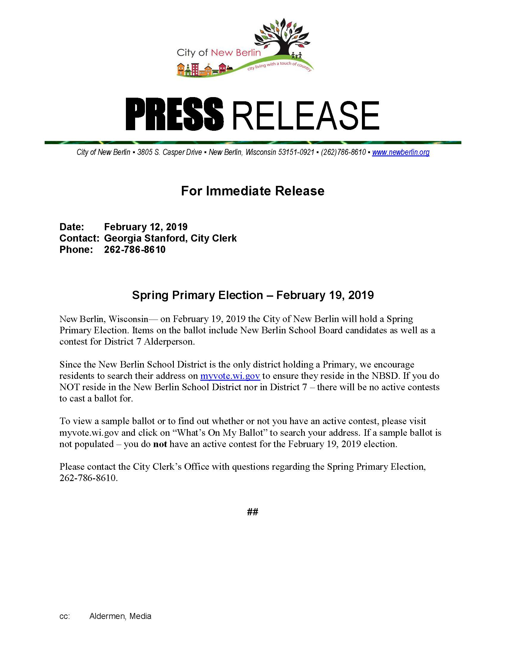 Press Release - Spring Primary