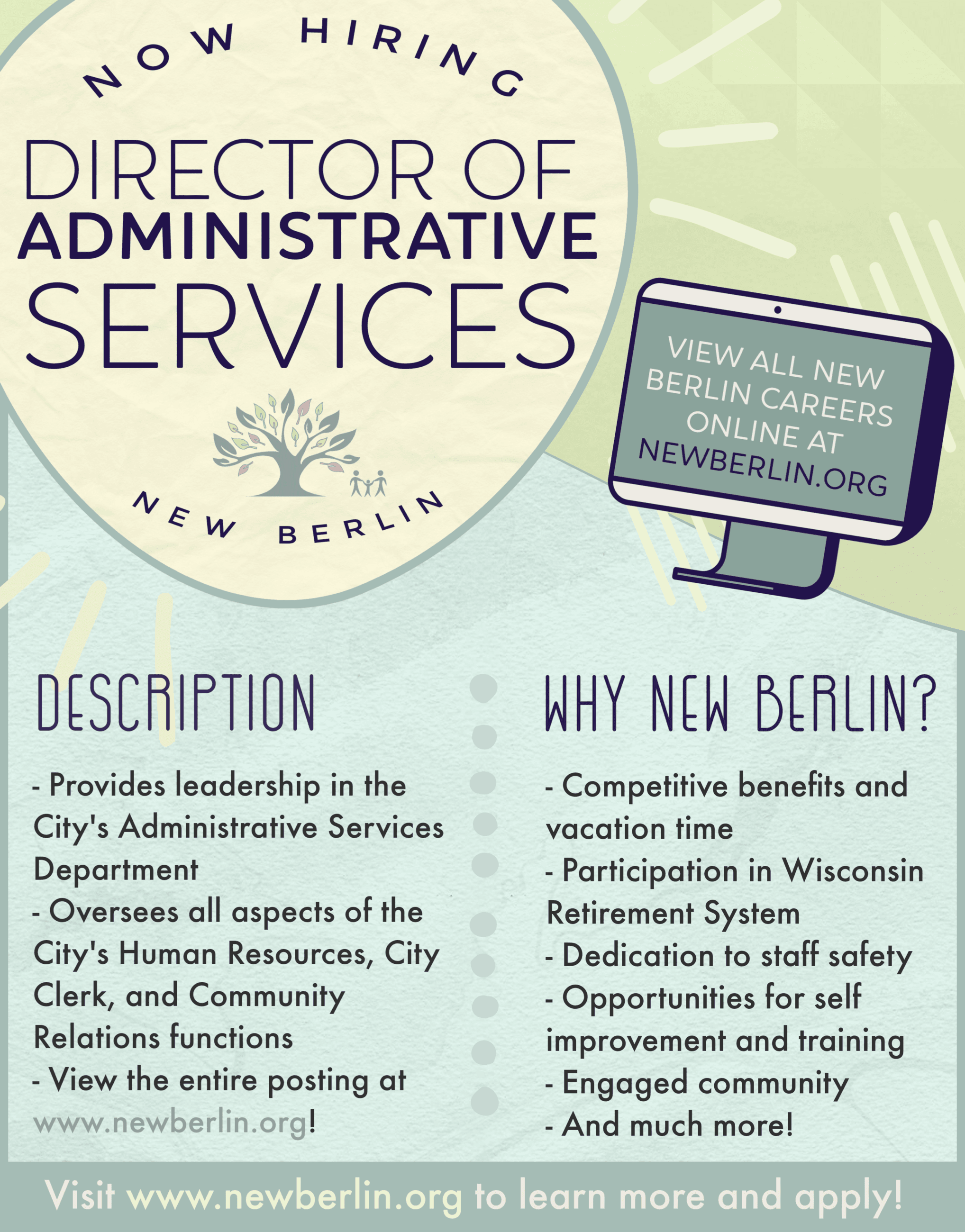 Director Admin Services Recruiting Poster