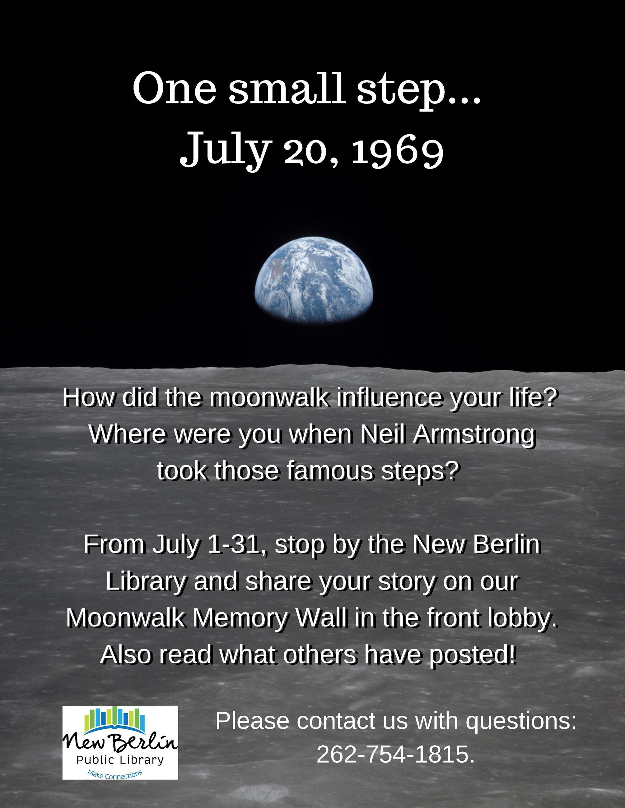 Moonwalk Memory Wall Flyer