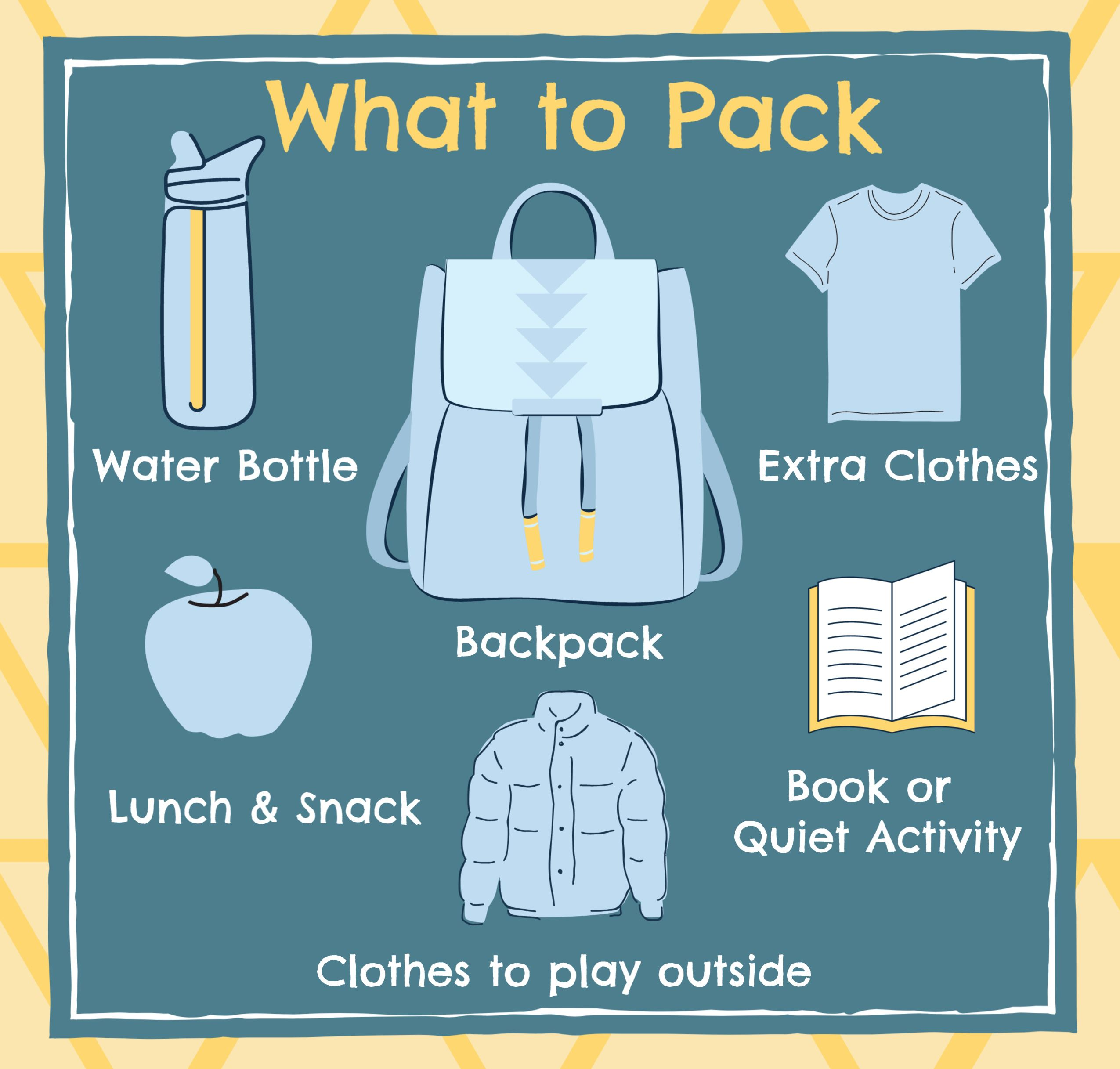 School Out Days what to pack