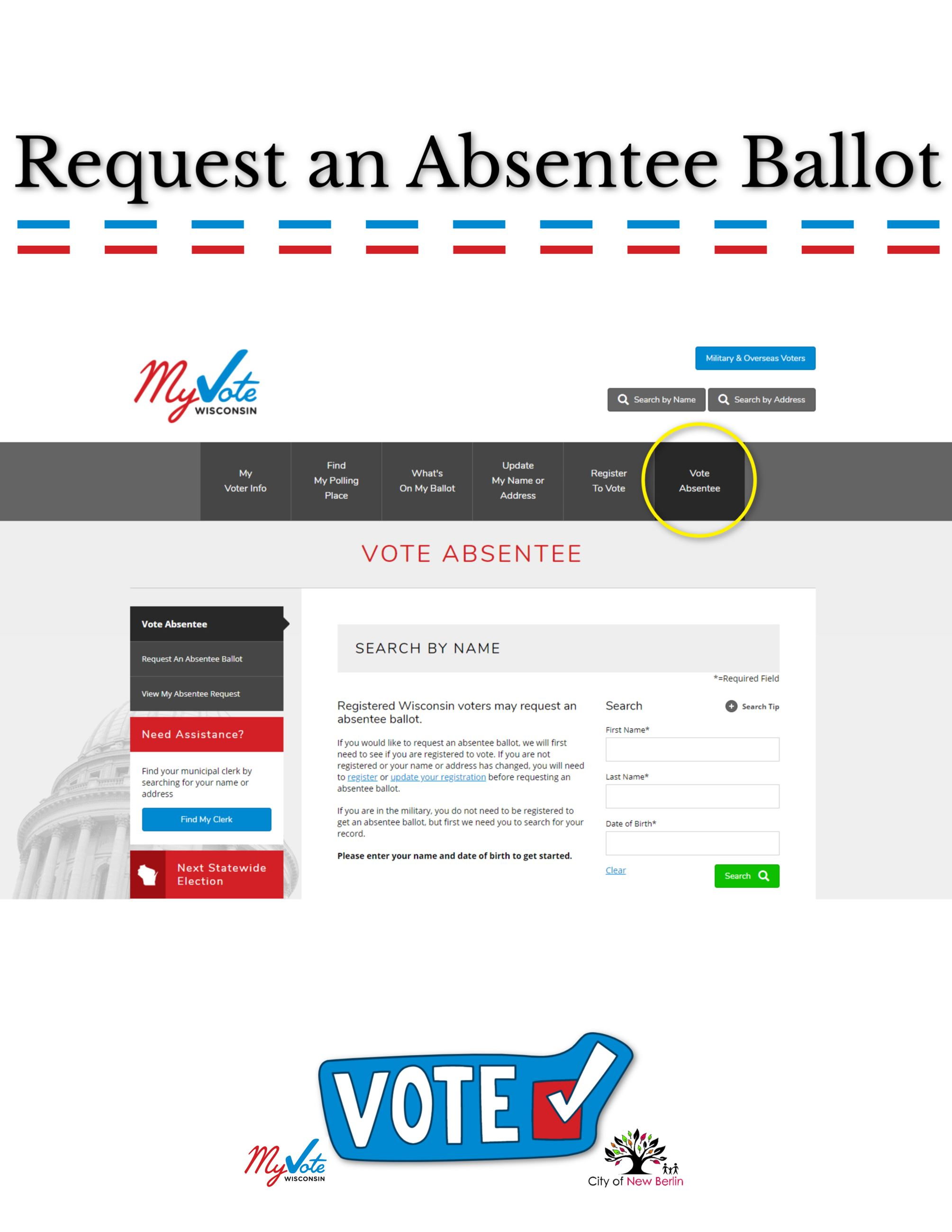 Request an Absentee Ballot