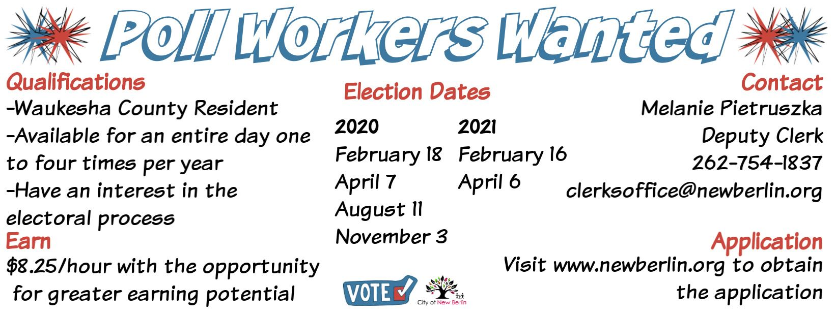 Poll workers wanted