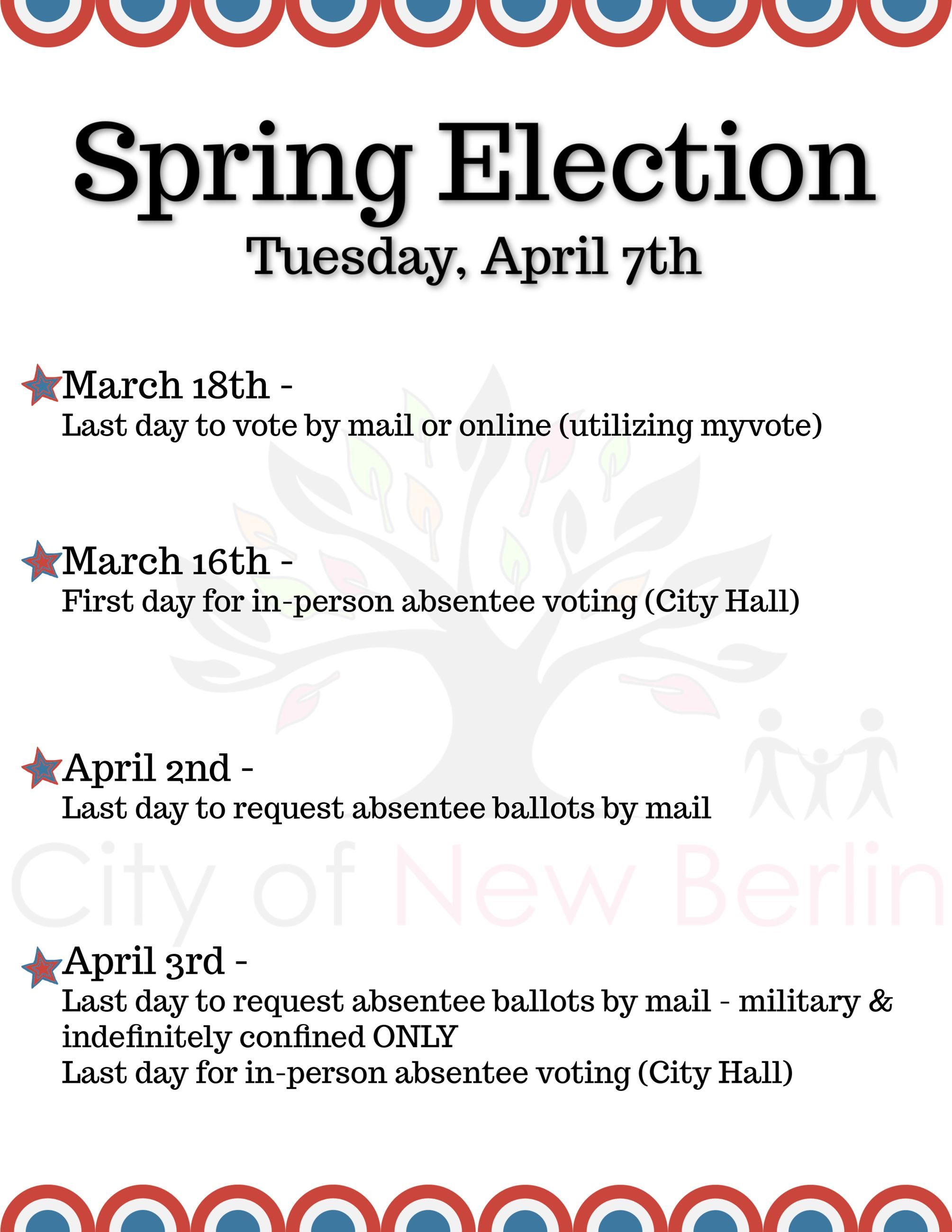 Spring Election