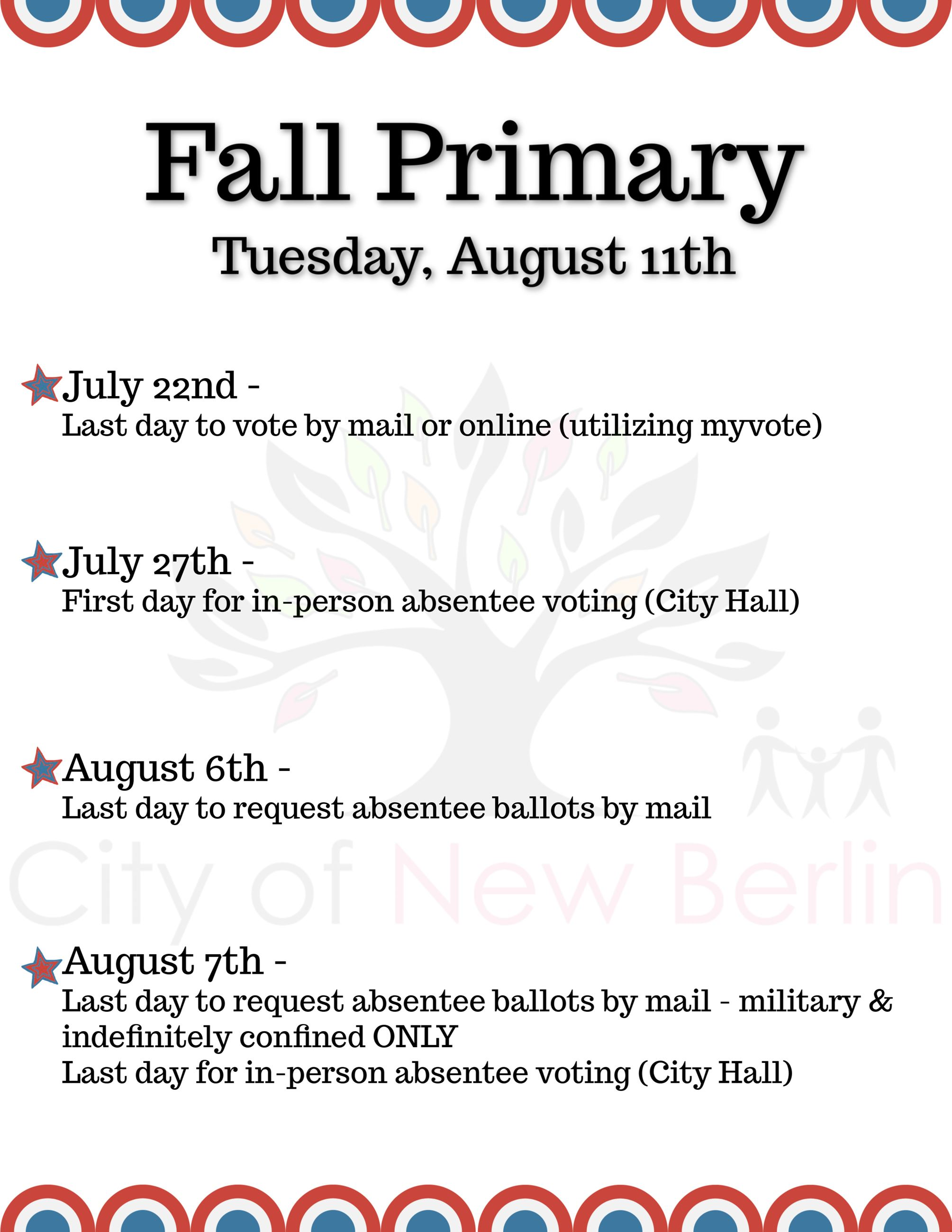 Fall Primary