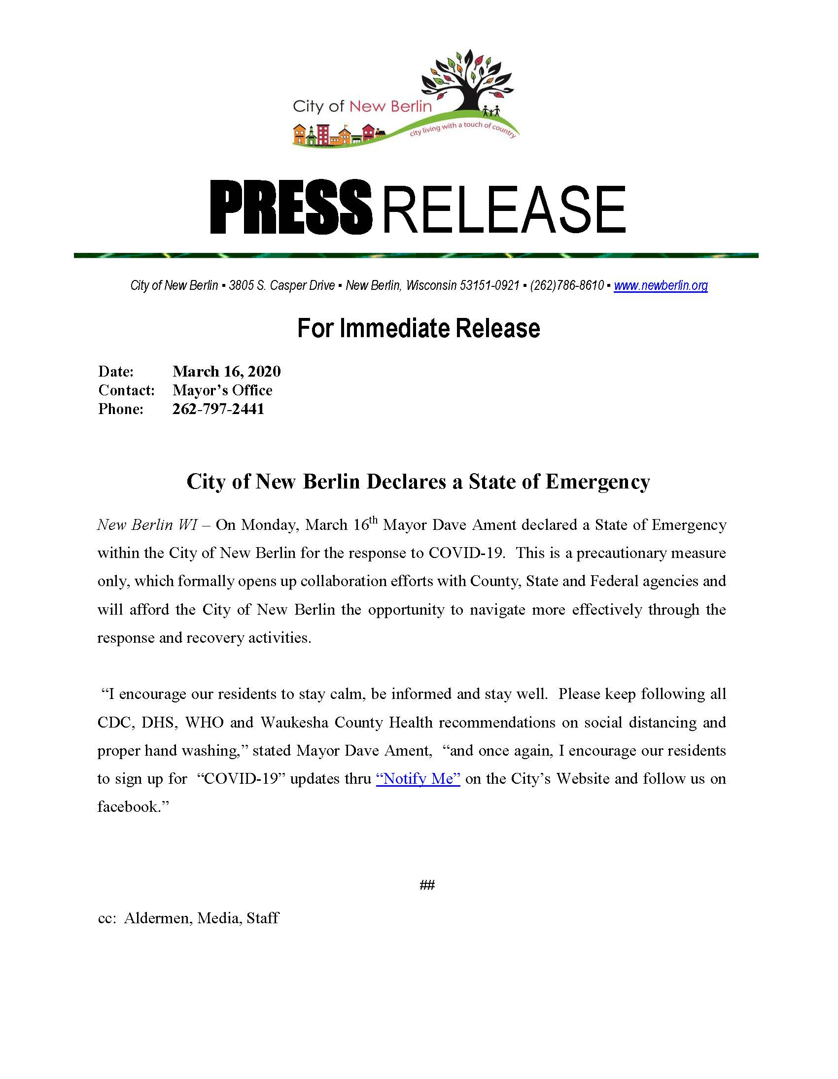 Press Release - State of Emergency (002)