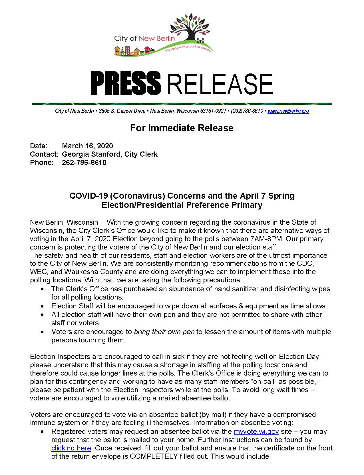 Press Release - Corona Virus  Election Day Updated 03162020_Page_1