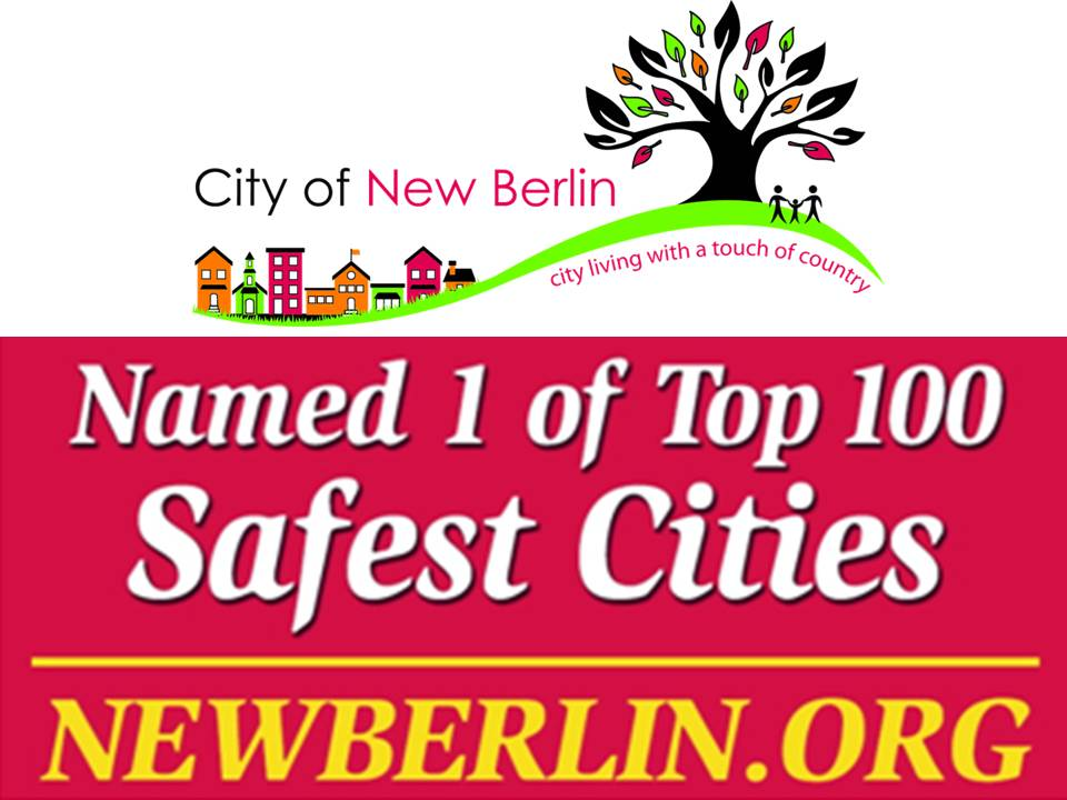 The City of New Berlin was ranked in the top 100 safest places to live in the country!